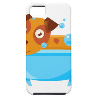 Puppy Taking A Bubble Bath In  Tub iPhone 5 Covers
