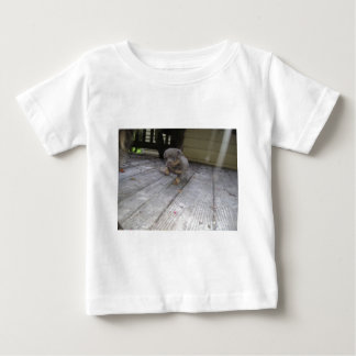 Puppy taking step baby T-Shirt