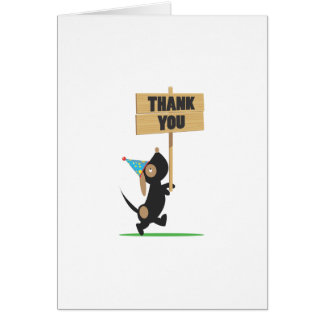 Puppy Thank You Card