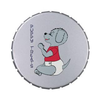 Puppy Treats Large Babyfur Tin Jelly Belly Tin
