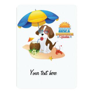 "Puppy vacation 5"" x 7"" invitation card"