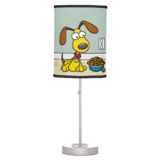 Puppy with Food Lamp