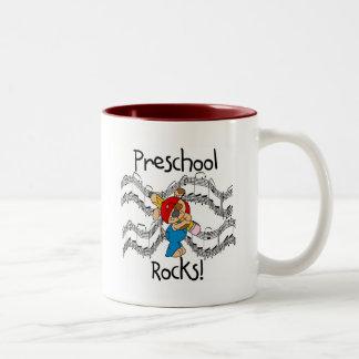 Puppy With Pencil Preschool Rocks Coffee Mug