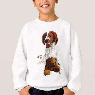 puppy with teddy sweatshirt