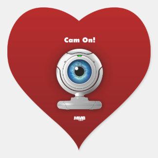 Puppyeye webcam heart sticker
