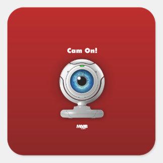Puppyeye webcam square sticker