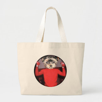 Pups workout tote bags
