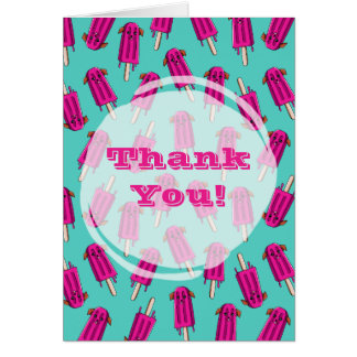 """Pupsicle"" Pattern Thank You Card"