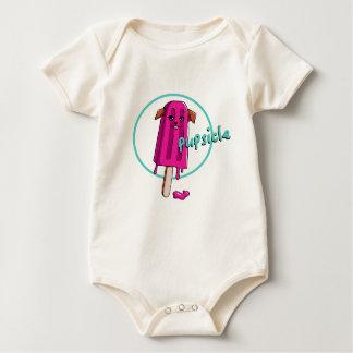 Pupsicle Pun Illustration Baby Bodysuit