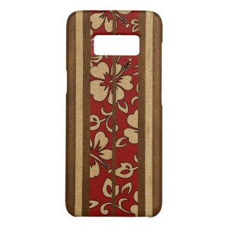 Pupukea Vintage Hawaiian Faux Wood Red Surfboard Case-Mate Samsung Galaxy S8 Case