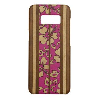 Pupukea Vintage Hawaiian Faux Wood Surfboard Pink Case-Mate Samsung Galaxy S8 Case