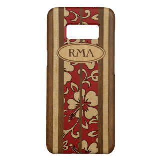 Pupukea Vintage Hawaiian Monogram Faux Wood Surf Case-Mate Samsung Galaxy S8 Case