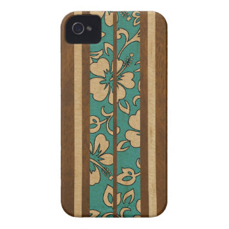 Pupukea Vintage Hawaiian Surfboard iPhone 4 Cases