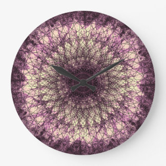 PUR-polarize Mandala Large Clock