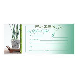 Pur Zen (aqua) Gift Certificate Card