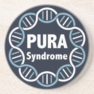 PURA Logo Sandstone Drink Coaster
