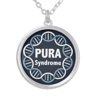 PURA Logo Silver Plated Necklace