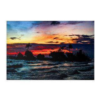 Pura Tanah Lot Temple, Bali, at sunset. Acrylic Print