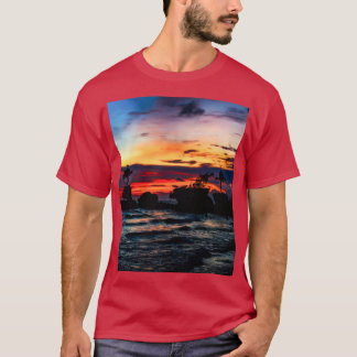 Pura Tanah Lot Temple, Bali, at sunset T-Shirt