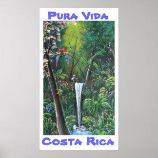 Pura Vida Costa Rica Poster