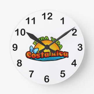 Pura Vida Costa Rica Round Clock