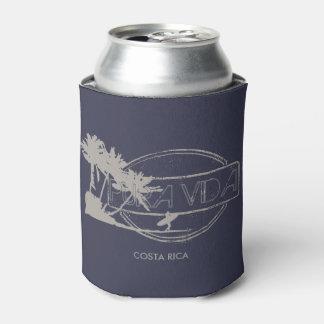 Pura Vida Costa Rica Surfing Surfer Beer Can Cooler