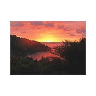 Pura Vida Sunset Sizzle II Poster Canvas Print