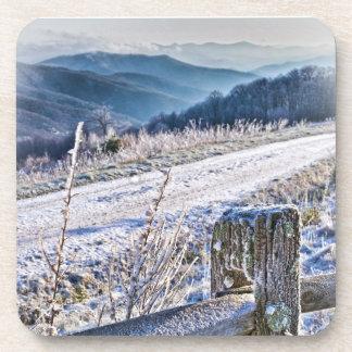 Purchase Knob Winter Scenic View Coasters