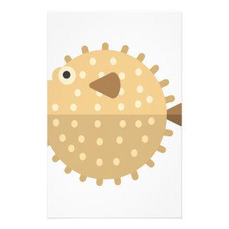 Purcupine Fish Primitive Style Stationery