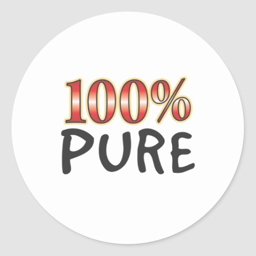 Pure 100 Percent Stickers