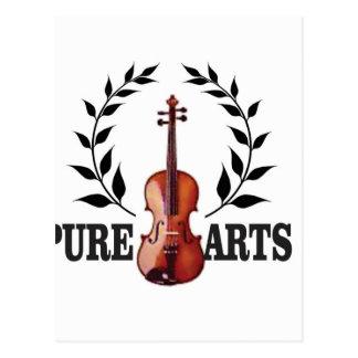 pure art fiddle postcard