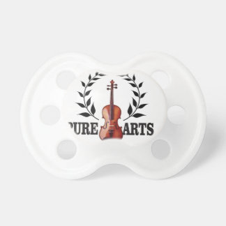 pure art violin baby pacifiers