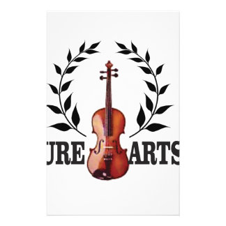 pure art violin stationery