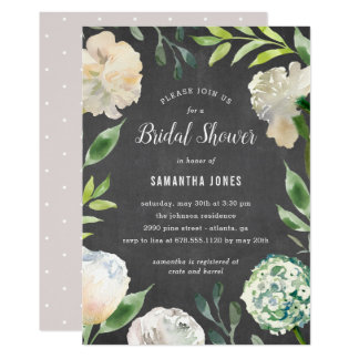 Pure Beauty Chalkboard Shower Party Invitation