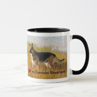 Pure Bred German Shepherd Photo on Ceramic Mug