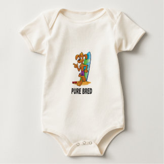 pure bred hip dog baby bodysuit