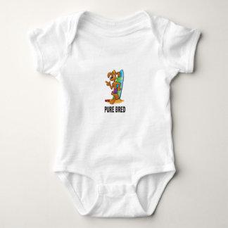 pure bred hip dog baby bodysuit