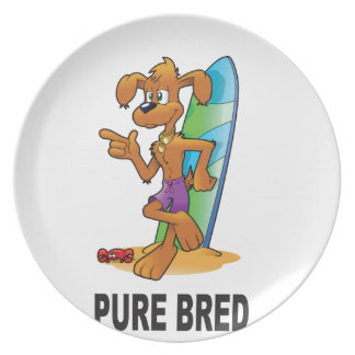 pure bred hip dog party plate