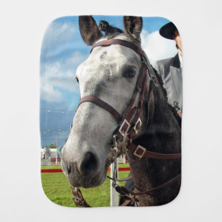 Pure breed horse burp cloth