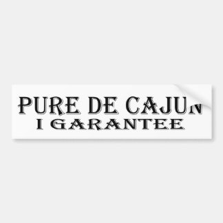 Pure De Cajun Bumper Sticker