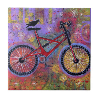 Pure Delight Raven and Bicycle Tile