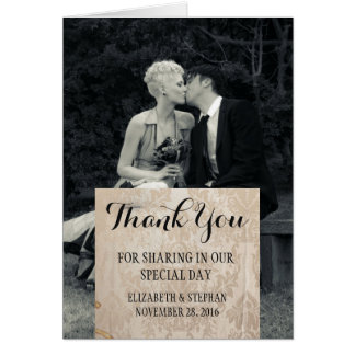 Pure Elegance Photo Black and White thank you Card