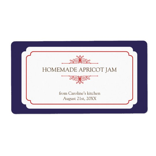 Pure elegance solid navy frame kitchen stickers shipping label