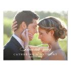 Pure Elegance Wedding Photo Thank You Card