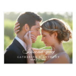 Pure Elegance Wedding Thank You Card - White