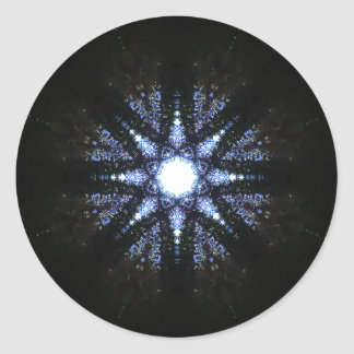 Pure Energy Star-Shaped Reactor Mandala Classic Round Sticker