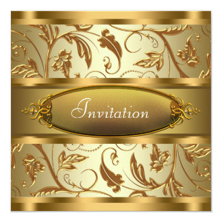Pure Gold All Occasion Party Invitations