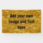 PURE GOLD FOIL Pattern + your text / photo Banner