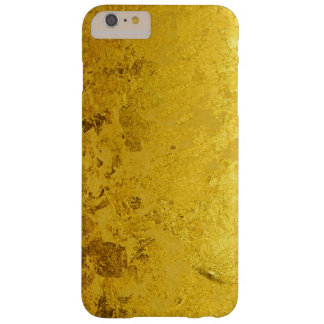 PURE GOLD LEAF Pattern + your text / photo Barely There iPhone 6 Plus Case