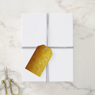 PURE GOLD PAPER Pattern + your text / photo Gift Tags